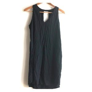 GAP Loose Fitting VNeck Shift Easy Black Dress